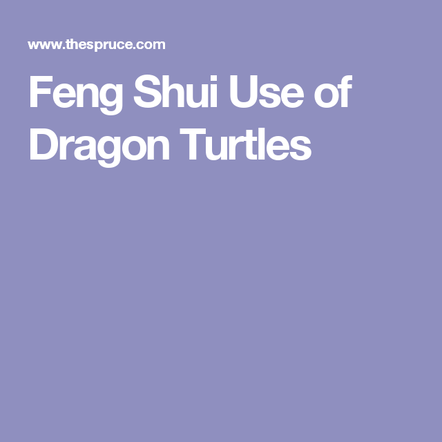 Here\'s How Dragon Turtles are Used in Feng Shui   Feng shui and Feng ...