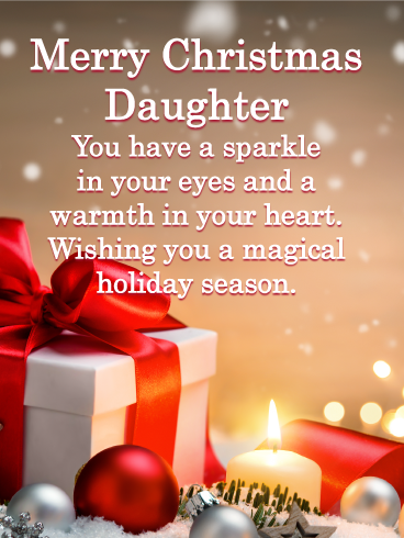 Glowing Gift Box - Merry Christmas Card for Daughter | Birthday & Greeting  Cards by Davia | Merry christmas daughter, Christmas prayer, Merry christmas