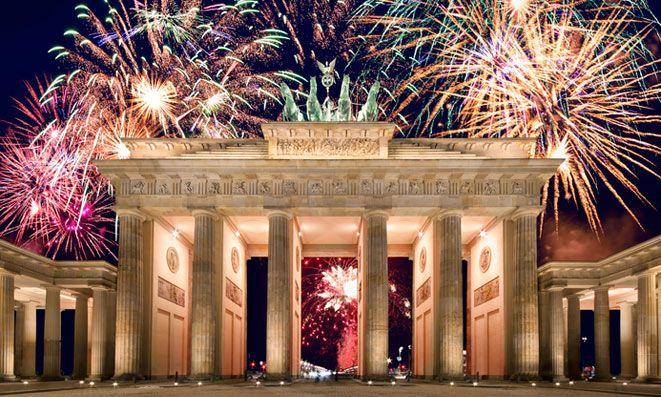 Silvester 2015 2016 Brandenburger Tor Silvester Feuerwerk Silvester Feuerwerk