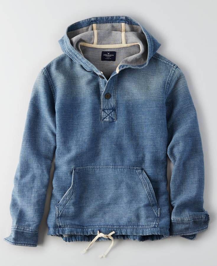 AEO Chambray Baja Hoodie, Men\'s, Blue | *Clothing* | Pinterest ...