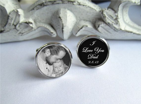 Photo Cufflinks Personalized Cufflinks Gift For Dad Wedding Cuff links Father Of The Bride Cufflinks Custom Cufflinks Wedding Keepsake