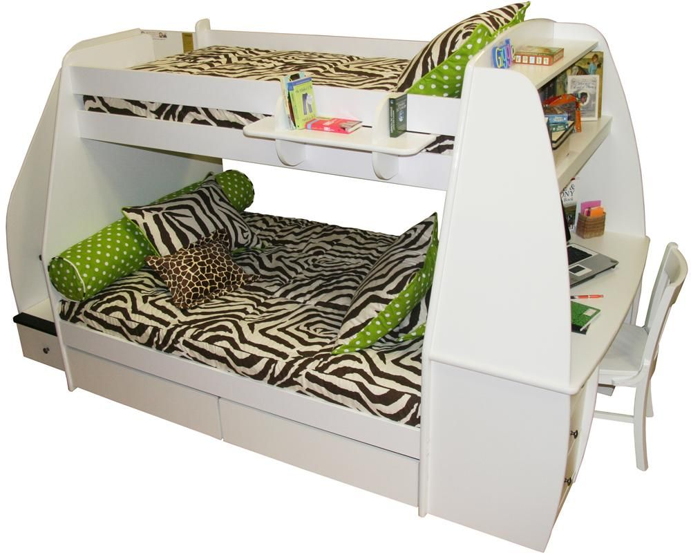 Loft bed with slide and storage  Boys bed  khlo  Pinterest  Desk storage Boy beds and Twins