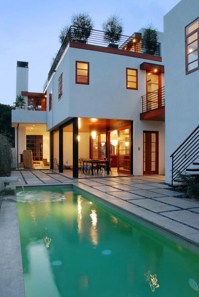 pool and deck go outside modern architecture house pool house rh pinterest com