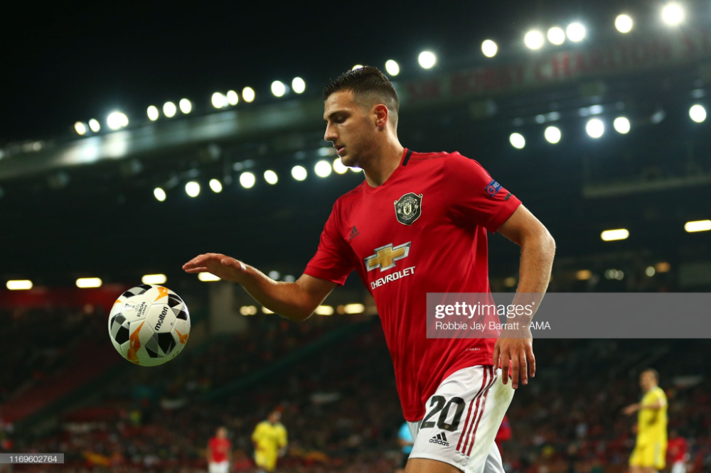 Diogo Dalot Of Manchester United During The Uefa Europa League Group Manchester United Manchester United Premier League Liverpool Vs Manchester United