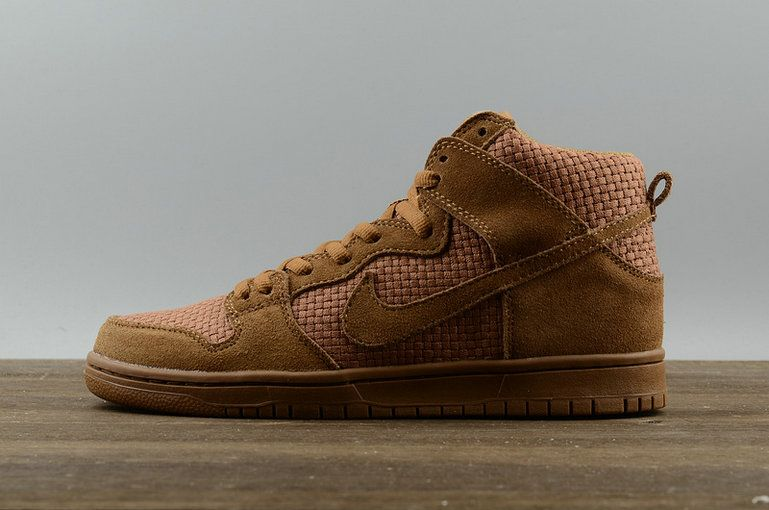a9ae54c49317 Buy Nike SB Dunk High PRM Brown Ale Mens Skate Sneakers 313171-227 Ale  Brown Ale Brown-Tr Yellow Youth Big Boys Shoes