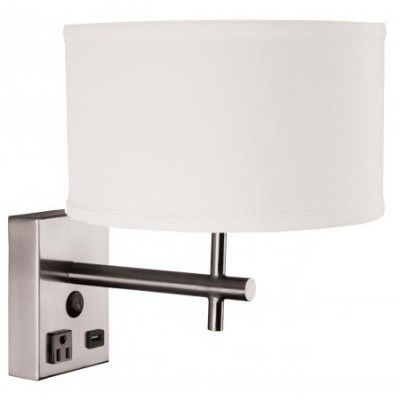 Hotel Nightstand Wall Lamp with USB Charging Station WL11118S Hotel light fixtures Pinterest ...