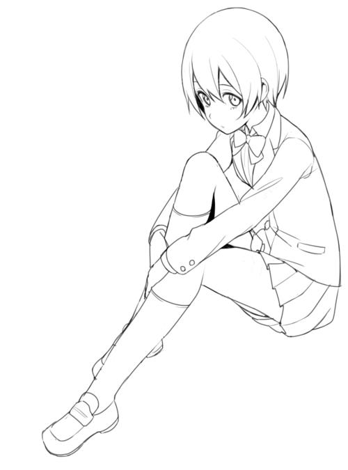 Resultado de imagen para colorear anime | pintar anime en 2018 ...