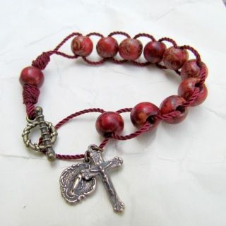 Wooden Rosary Bracelet Handmade Beads By Graceful Rosaries Catholic