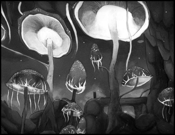 Cave Mushrooms by McLaren-Spyder.deviantart.com on @DeviantArt