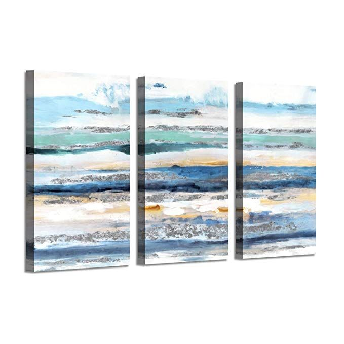 Amazon Com Abstract Seascape Picture Beach Artwork Seaside Waves