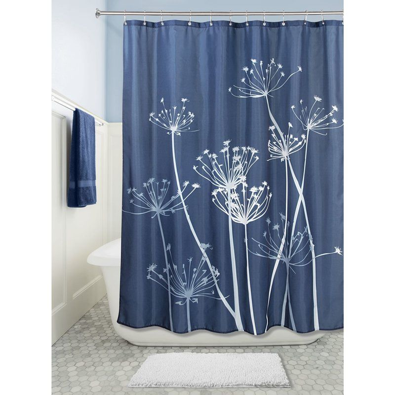Idesign Thistle Single Shower Curtain Reviews Wayfair Fabric