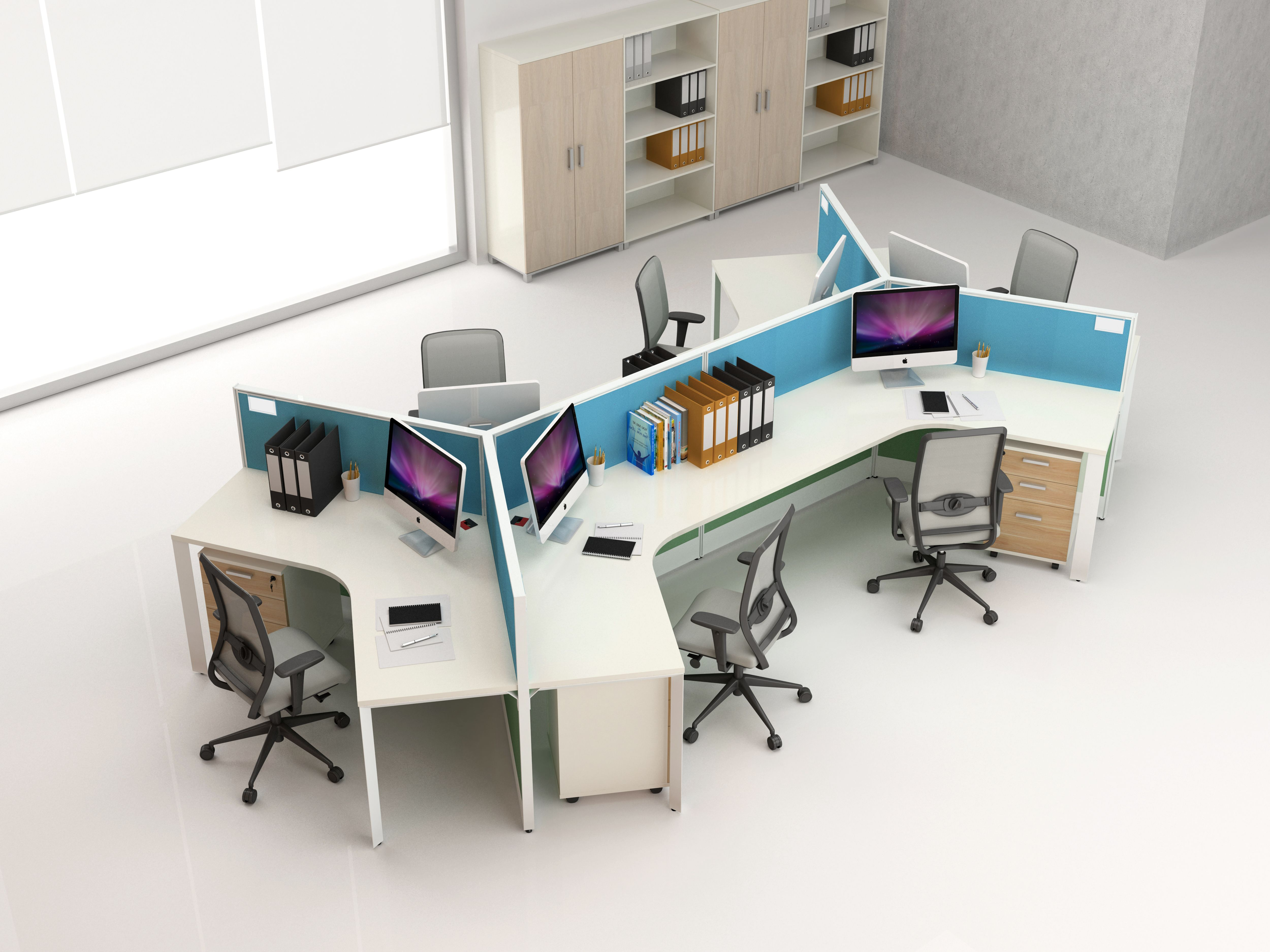 Office Workstation For 6 Person Office Layout Office Workstations Office