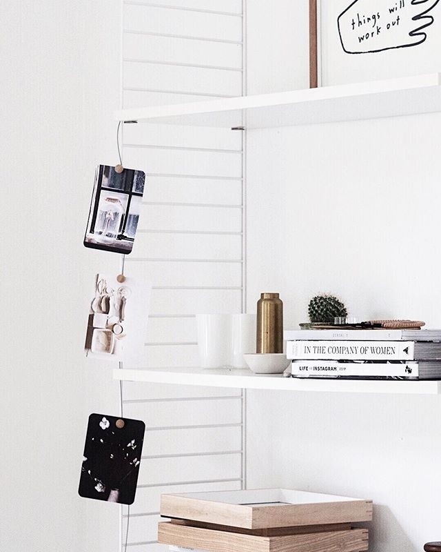 After last weeks Styling and Photography workshop this String shelving was looking like a dumping ground so I made myself a coffee put on some tunes and got it back into shape. You can see me working double time over on Insta Stories...back and forth back and forth.