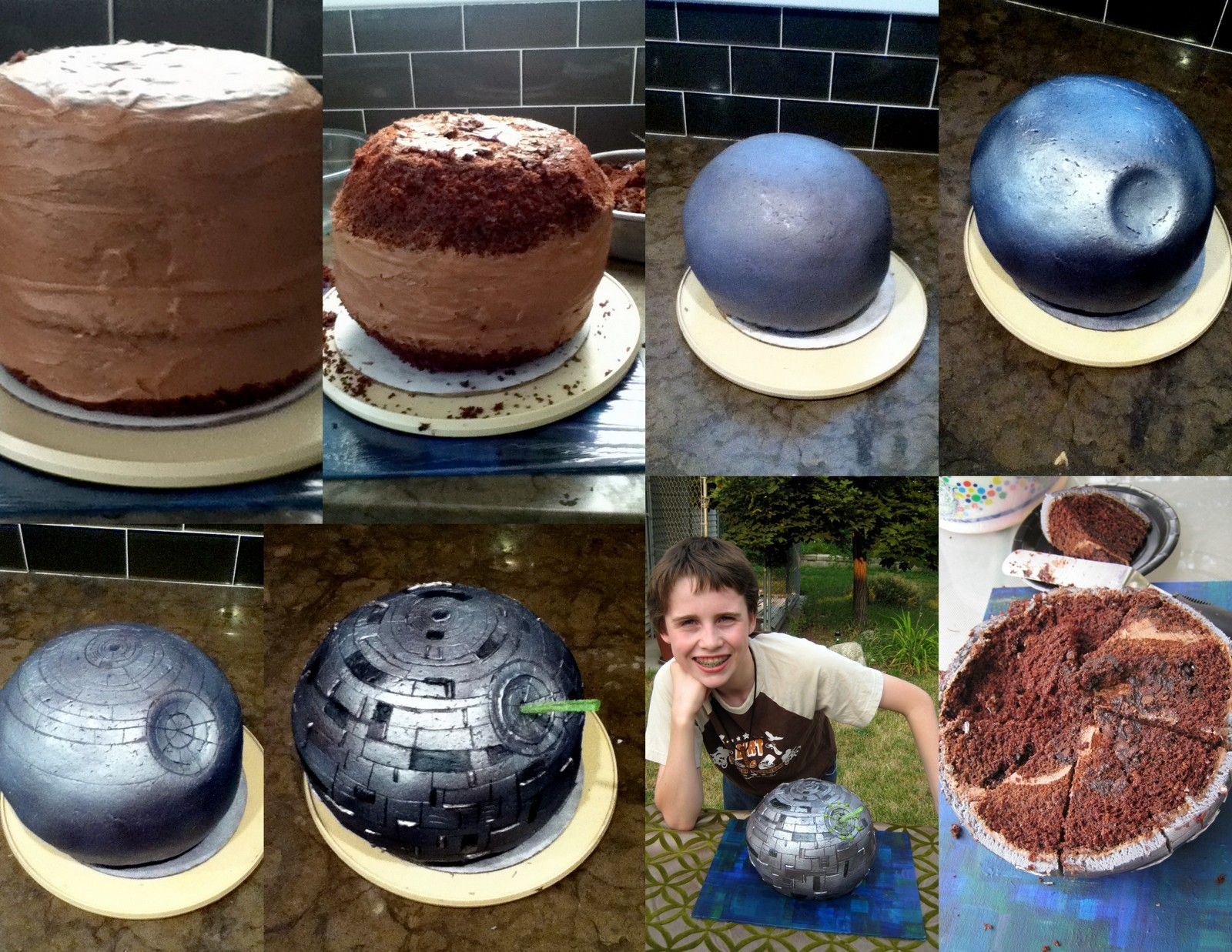 Blue Making A Death Star Cake Star Wars Pinterest