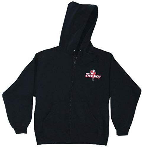 Liberty 2492-01 Stud Boy Black Zip Hoodie Large