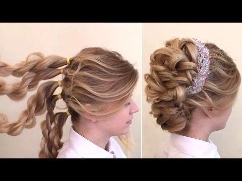 Chignon tresse facile Tuto coiffure de soiree cheveux long - YouTube | Hair tutorials for medium ...