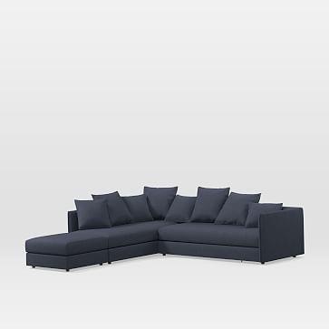 west elm serene 3 piece terminal chaise sectional products rh pinterest com