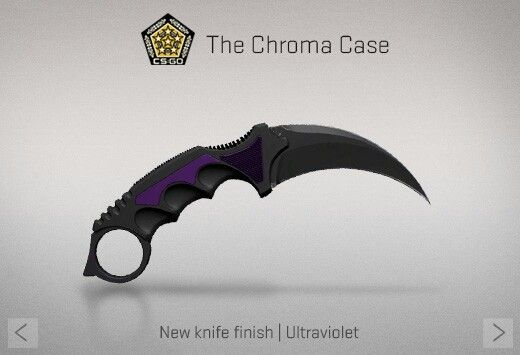 Counter Strike Global Offensive The Chroma Case Karambit Ultraviolet Videojuegos Cuchillos Y Armas De Fuego