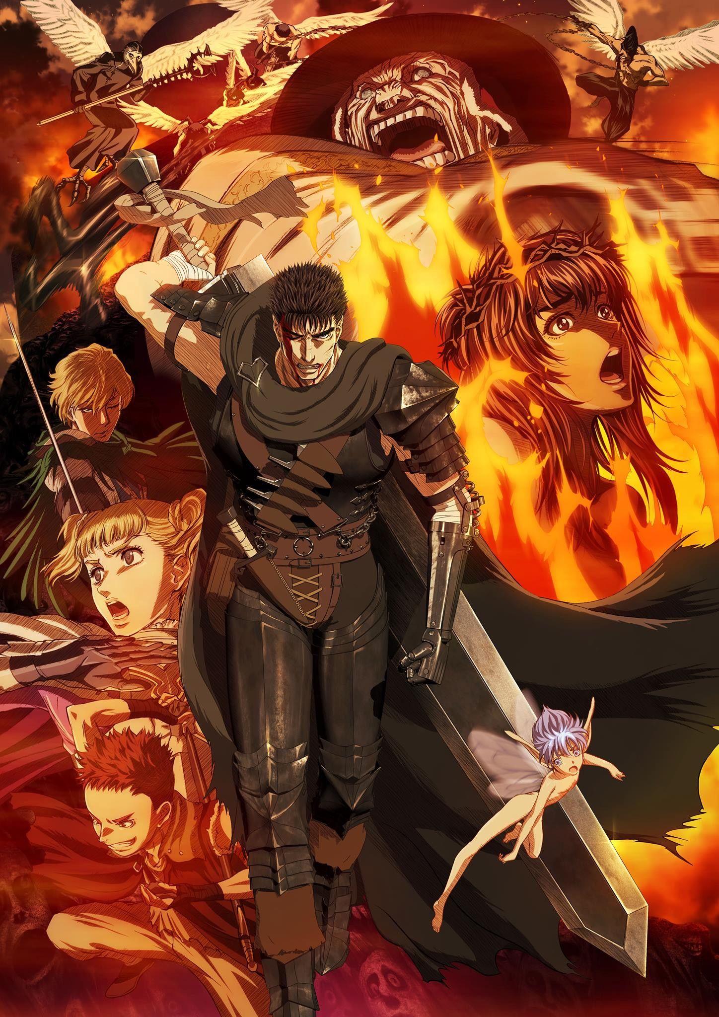 Pin de Daniel Mendez em Anime Anime, Berserk, Poster