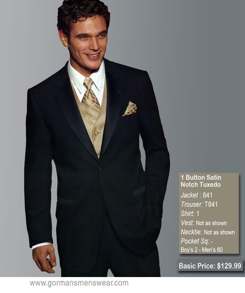 Tuxedos For Weddings: Black / Champagne Wedding Tuxedo Rentals