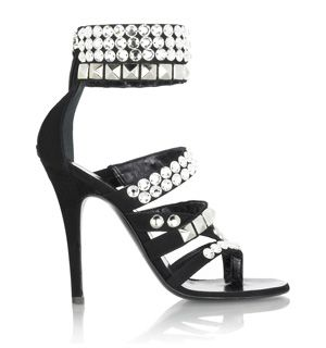 3277c3e88522 Balmain Crystal Studded High Heel Sandals