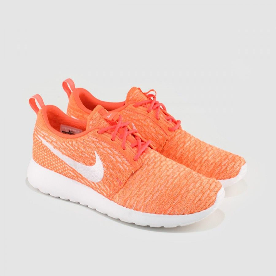 pretty nice fcde7 ccc57 Nike - Women s Roshe One Flyknit (Hot Lava   Sunset Glow   White)