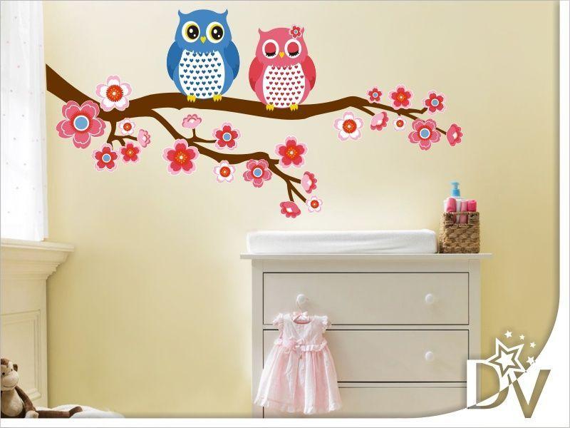 Baglyos falmatrica gyerekszobába  bagoly  ág  faág  bagolypár  aranyos   gyerekszoba  babaszoba  dekoráció  faltetoválás d780b39847