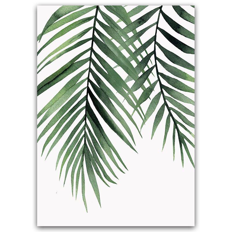Palm Leaf Wall Art Leaf Wall Art Plant Painting Watercolor Plants