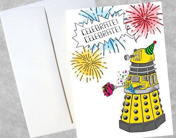 Doctor Who Belated Birthday Card – Doctor Who Birthday Card