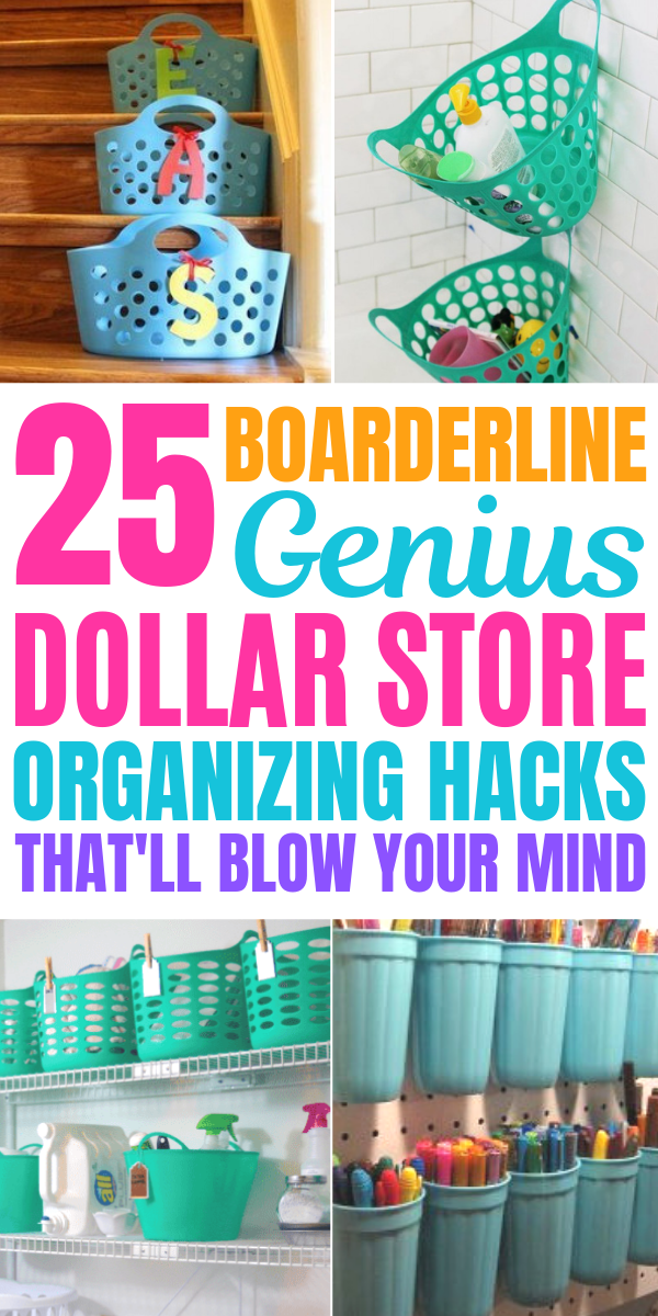 25 Mind Blowing Dollar Store Hacks You Need To Try Today (Dollar Tree Finds) -   17 diy Organization projects ideas