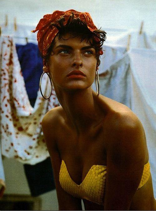 Cuba! Linda Evangelista by Steven Meisel for Vogue Italia, February 1989