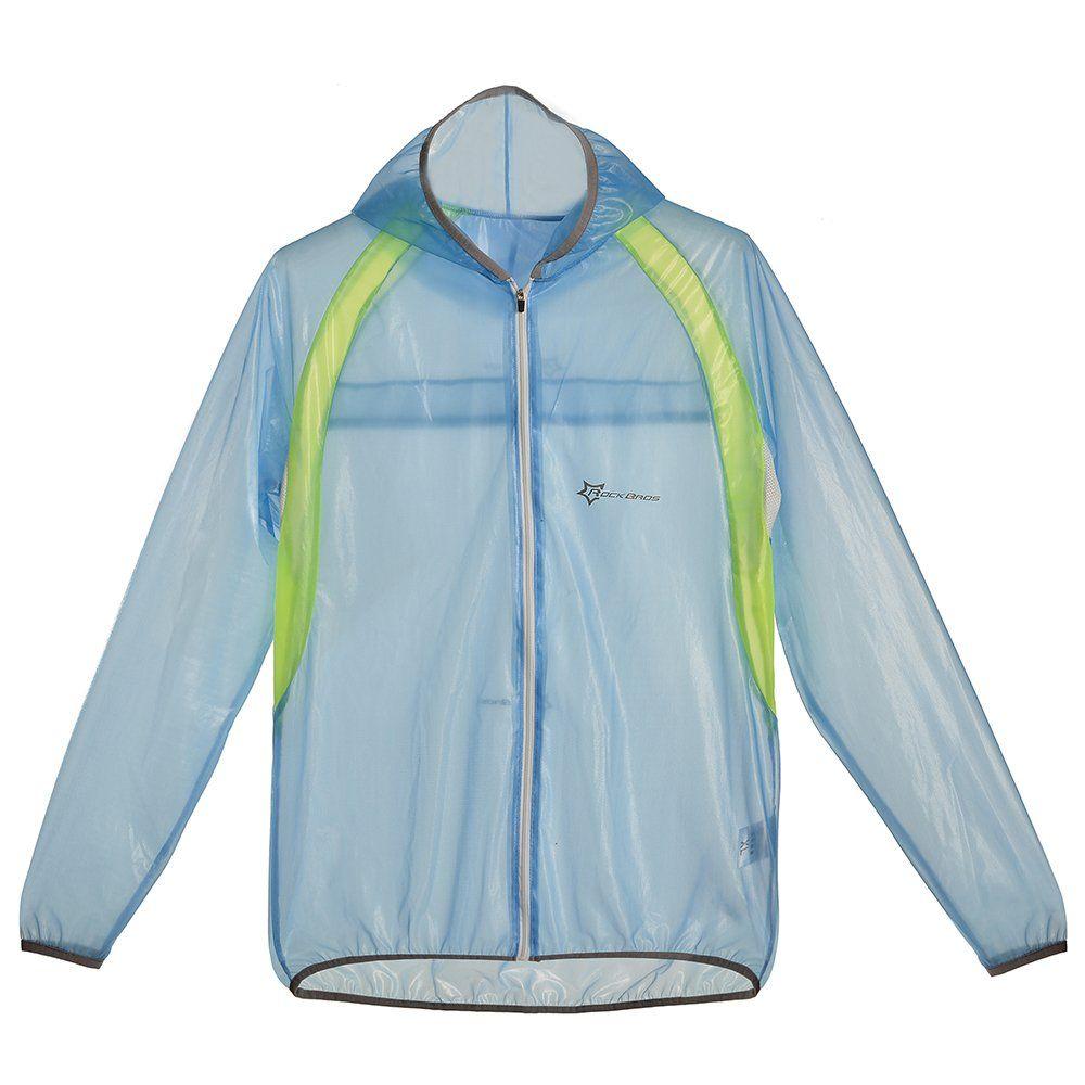 7283778de RockBros al Aire Libre Bicicleta Ciclismo Impermeable Windproof Hooded Chubasqueros  Chaqueta para Unisex (Azul,