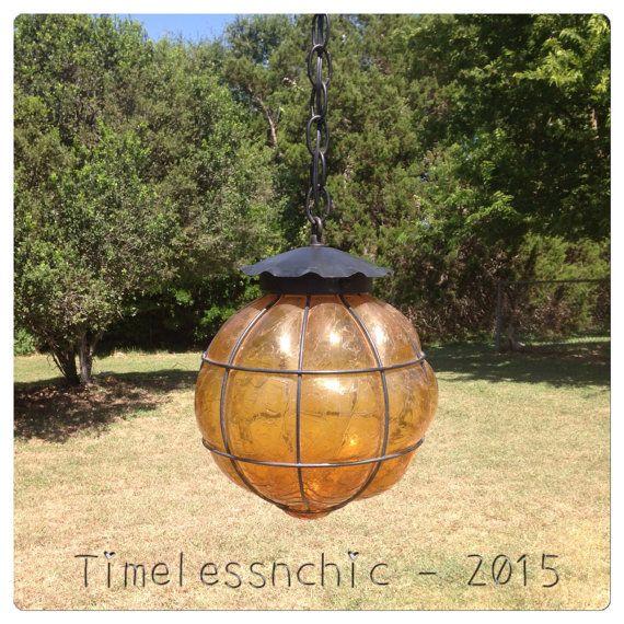 Pendant Light - Pendant Lighting - Globe Chandelier - Bohemian Decor - Hacienda Lighting - CHIC