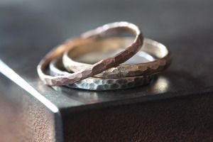 Alexis Russell Hammered Rose Gold Stacking Ring