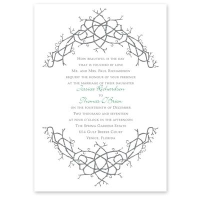 Natures Celtic Knot Wedding Invitation