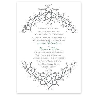 natureu0027s celtic knot wedding invitation irish wedding invites at - wedding announcement template