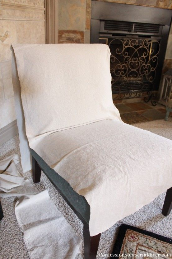 Slipcovering An Armless Accent Chair Slipcovers For