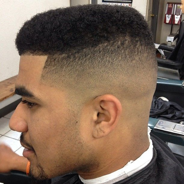 Image For Mid Fade Haircut Black Men