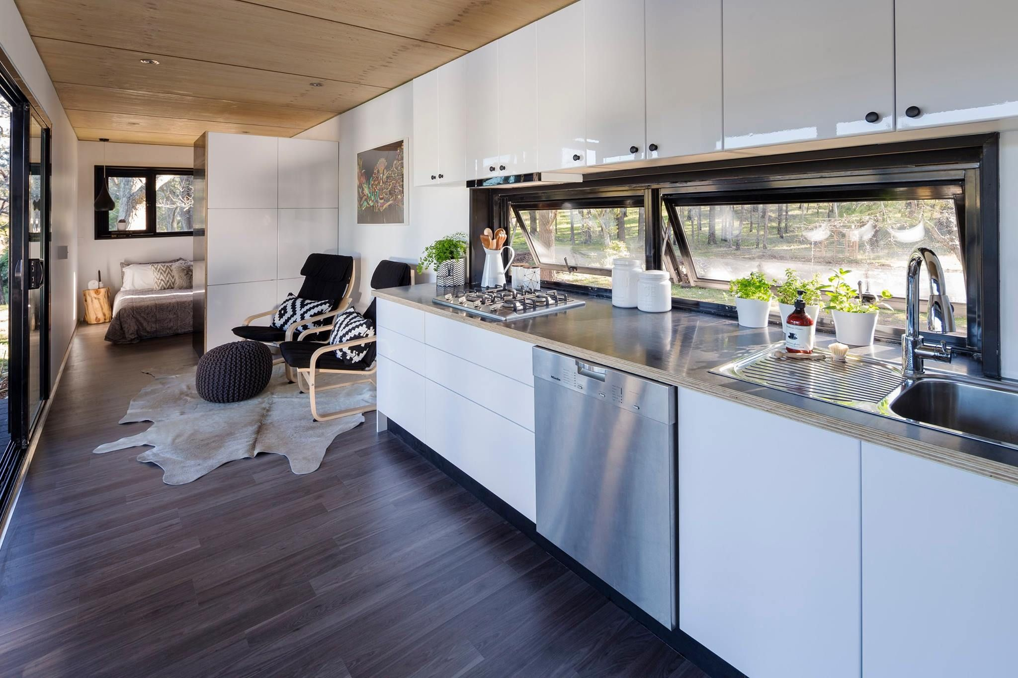 shipping container tiny home paring down to just what you love is rh pinterest com