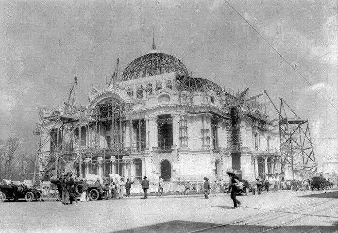 Construcción del Palacio de Bellas Artes