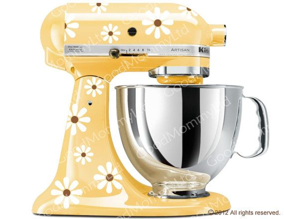 daisy mixer decal kit kitchenaid stand mixer decal original rh pinterest com
