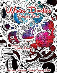 Winter Doodles Colouring Book Anti Stress Relaxation Therapy For Adults And