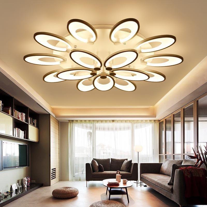 white ring light fixture chandelier lustre large flush mounted led rh pinterest com