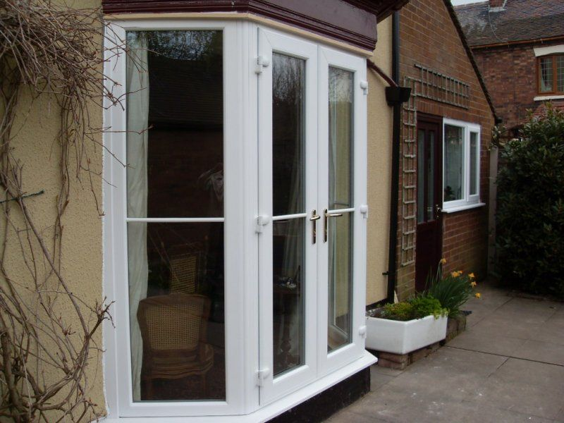 Full Height Glazed Bay With Doors Bay Window Patio Doors French Doors