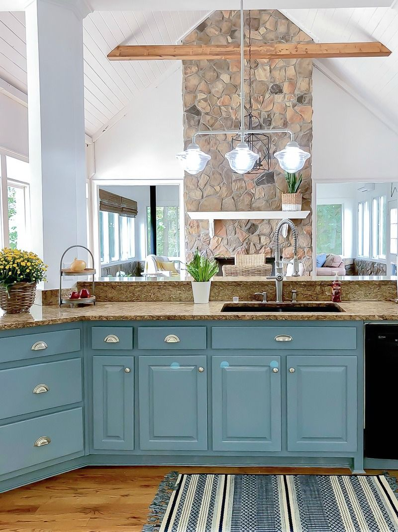Blue Kitchen Island Reveal and some painting advice | Bloggers\' Best ...