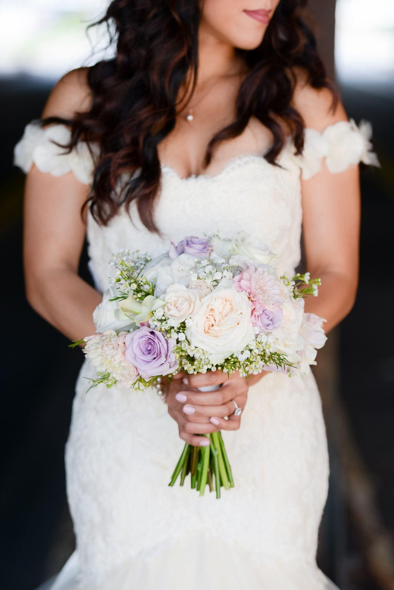 Elena + Fabian's Industrial Wedding | Dress: Lea-Ann Belter Rosemary via MH Pomander's | Image: Sara Ackerman Photography | Venue: Mavris Arts and Events Center