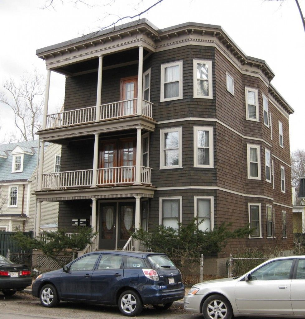 Triple Decker House Style Three Family Houses In Cambridge Centers And Squares House Styles Buying A Condo American Houses