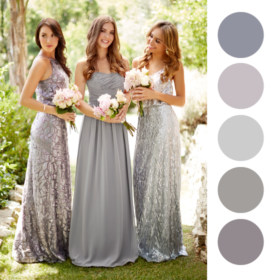 Ideas De Vestidos Colores Para Las Damas Mismatched Colors Bridesmaids Dresses