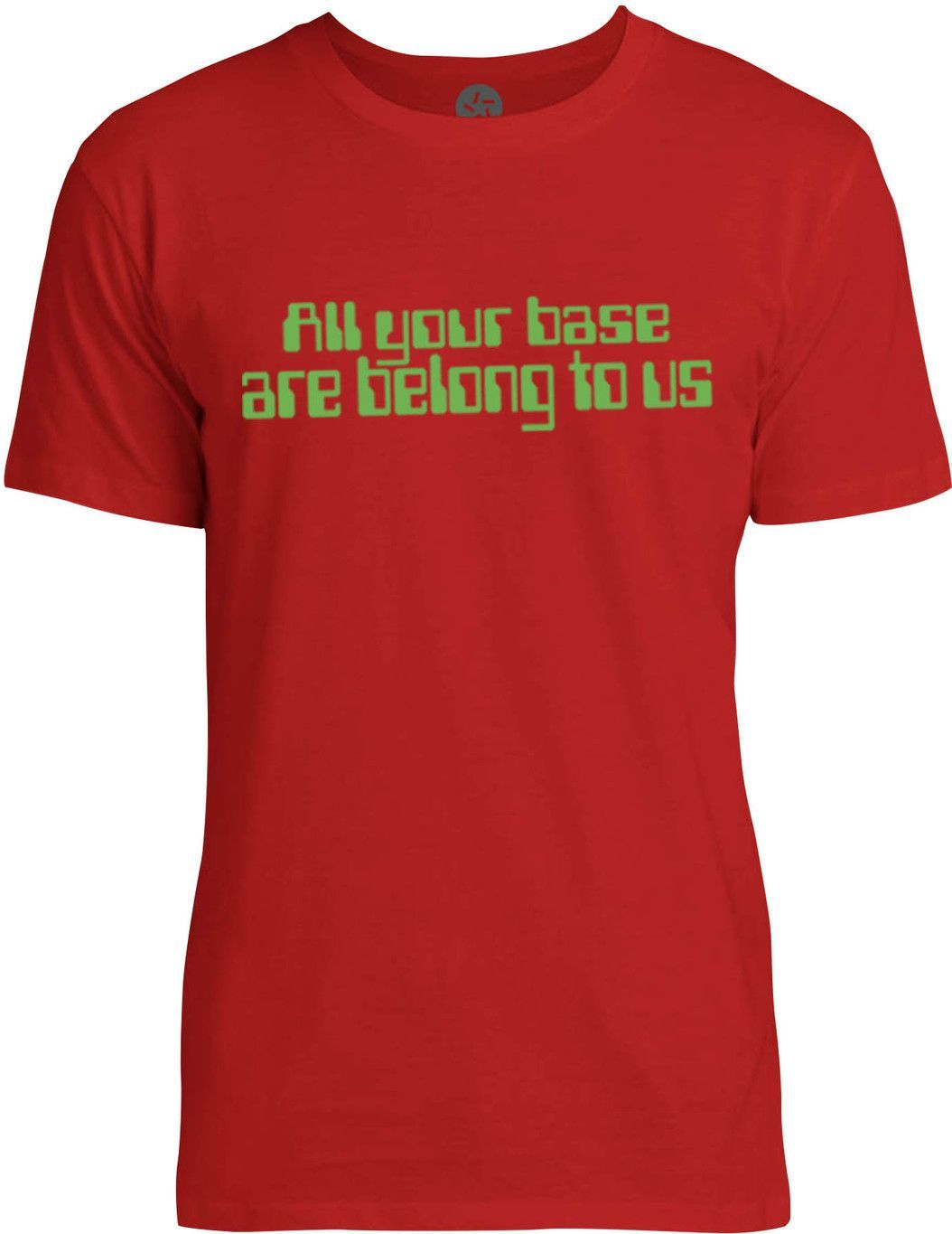 All Your Base Are Belong To Us Green Mens Fine Jersey T Shirt