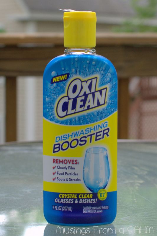 cleaner dishes with oxiclean dishwashing booster for the home dishwasher cleaning dishes. Black Bedroom Furniture Sets. Home Design Ideas